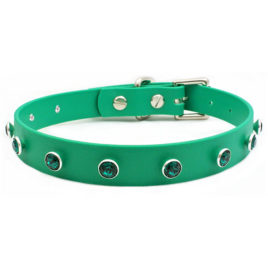 Swarovski® Emerald Green Crystal Vegan Leather Collar